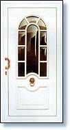 białe drzwi pcv