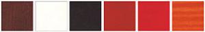 okna drewniane gama kolorów